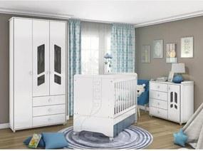 Quarto de Bebê Completo Bambolê - Branco