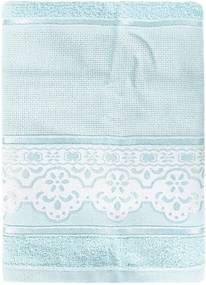 Toalha de Rosto Pinte e Borde Luciana - Azul Claro - Santista