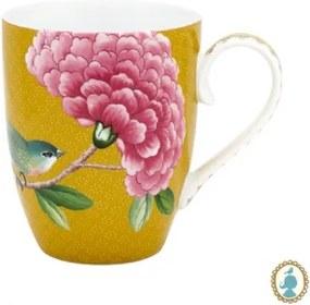 Caneca Grande Amarelo - Blushing Birds - Pip Studio