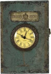 Caixa Livro com Porta Chave de Parede Azul