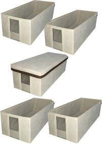 caixa organizadora para sapato com visor transparente média kit com 5
