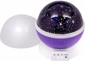 Lâmpada Luminária Projeção Rotativa Romântico Infantil Estrelas Lua LEDs Decoração Quarto Criança Bebê