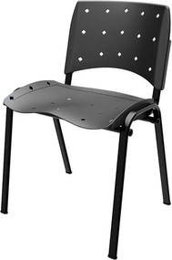 Cadeira Mantas Fixa Preto