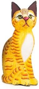 Gato Realista Amarelo Rajado