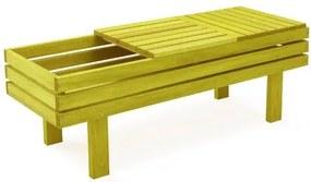 Banco Floreira 2 Lugares Estrutura Amarelo 123cm - 61588 Sun House