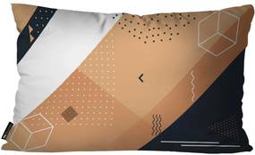 Kit com 4 Almofadas Abstrato LaranjaKit 4