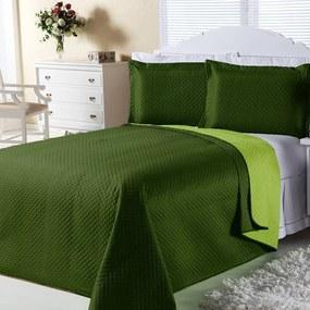 Cobre-Leito DOURADOS ENXOVAIS Dual Color Bandeira E Verde Claro Casal 03 Peças