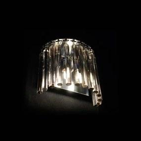 Arandela Aço E Inox Cristal Hermes