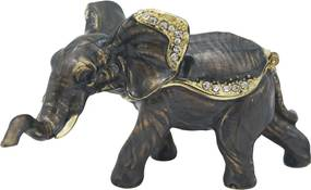 Porta Joias em Metal Elefante 5x9