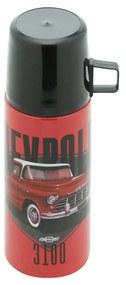 Garrafa Térmica 350 ml com Caneca Chevrolet 3100 Brasil GM