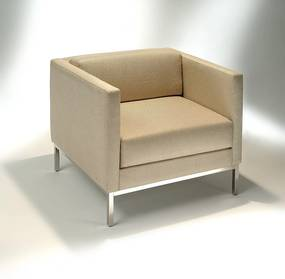 Poltrona Básica Estrutura Aço Inox Design by Studio Mais