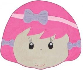 Tapete Formato Menina Laço - Pink