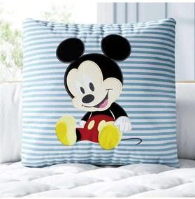 Almofada Quadrada Azul Mickey Mouse Disney Grão de