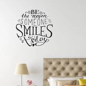 Adesivo Decorativo Smiles Medidas 0,59X0,59 Metros (Seja O Motivo Do Riso De Alguém Hoje)