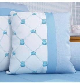 Almofada Azul Bebê Ursinho Clássico 43cm Grão de G