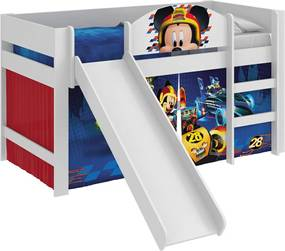 Cama C/ Escor Mickey Asr Disney Play Branco Pura Magia