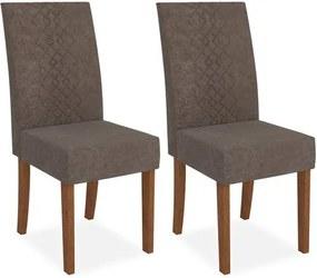 Cadeira Decore Sala de jantar (kit 2 und), Padrao - Rústico Terrara/Pena Marrom