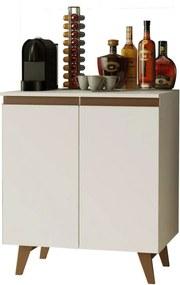 Balcão Cantinho do Café Madesa Reims 70 cm 2 Portas - Branco Branco