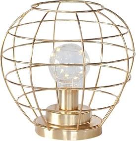 luminária DAMON led em metal dourada 19cm ilunato QF0004