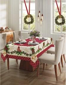 Kit 2 toalha de mesa Natal 76 - 1 quadrada 4 lugares e 1 retangular 6 lugares