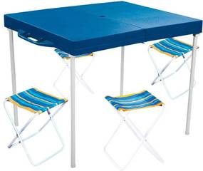 Mesa de Camping + 4 Banquetas Mor Prática - 003403