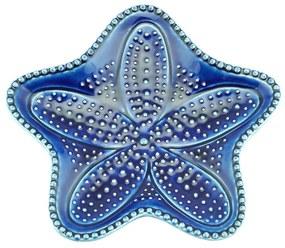 Jogo Pratos Cerâmica Estrela 4 Peças Ocean Azul 15cm 28102 Bon Gourmet