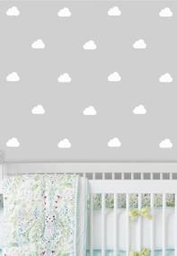 Adesivo Decorativo Stixx Chuva De Nuvens Branco