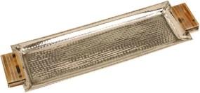 Bandeja Decorativa de Metal Retangular Grande Nilo