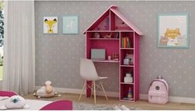 Escrivaninha Casinha Pink Ploc Gelius Móveis