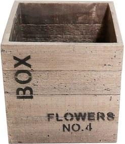 Vaso Quadrado Flower NO 4 Areia