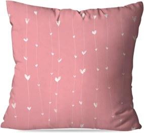 Almofada Love Decor Avulsa Decorativa Coração Rosa
