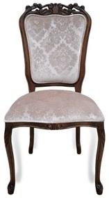 Cadeira Luiz XV Entalhada Madeira Maciça Design de Luxo Peça Artesanal