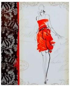 Quadro Decorativo Desenho de Moda - KF 48612 40x60 (Moldura 520)