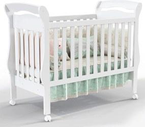 Berço Bambini Branco-Acetinado Matic Móveis