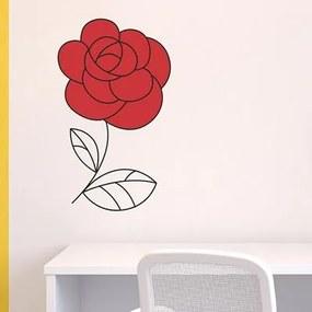 Adesivo Decorativo Rosa Vermelha Medidas 0,59X0,6 Metros