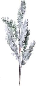 Galho Com Neve Decoração Natal Para Árvore 81Cm Cor Branco