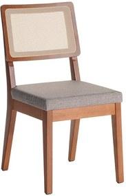 Cadeira de Jantar Saga com Encosto Anatômico e Tela Sintética Alpha 80