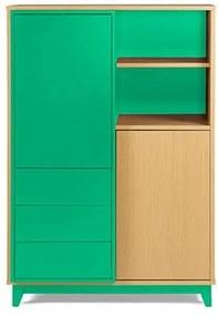 Adega Quadrato Cor Natural Com Verde Anis - 29523 Sun House