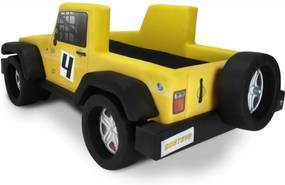 Mini Cama Jeep Hally - Cama Carro Amarelo