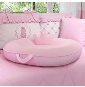 Almofada Ninho Multifuncional Rosa Xadrez 75cm Grã