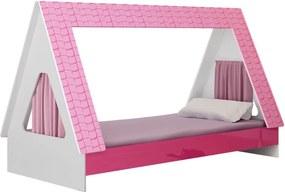 Cama Solteiro Meninas Cabaninha Gelius Branco/pink Plock