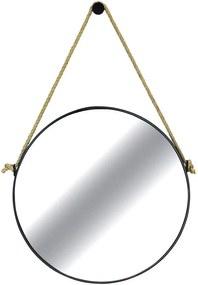 Espelho de Parede Redondo Nohai em Aço Carbono 75cm