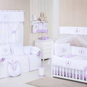 Quarto Para Bebê Padroeira Baby Realeza Lilás