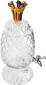 Suqueira Cristal Ecológico Abacaxi Com Coroa Dourado 3 Litros 27584 Wolff