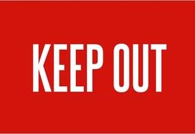 Tapete de Porta, Keep Out - 40x60cm