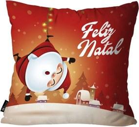 Capa para Almofada Feliz Natal Vermelho -35x35cm