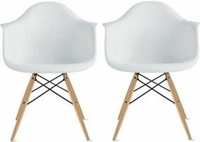 Conjunto 2 Cadeiras Eiffel Eames DAW Branca