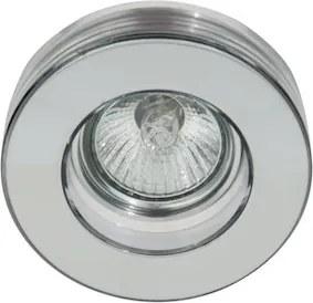 Plafon Embutir Vidro Aço Cromado Shine