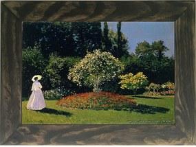 Quadro Decorativo A4 Jeanne Marguerite Lecadre in the Garden - Claude Monet Cosi Dimora