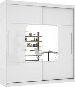 Guarda-Roupa Ipanema com Espelho Branco - MiraRack Móveis